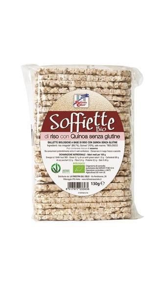 soffiette di riso con quinoa
