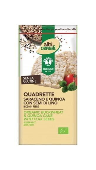 quadrette grano saraceno, quinoa e semi di lino
